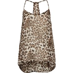 **Leopard Cami Top by Oh My Love ($33) ❤ liked on Polyvore