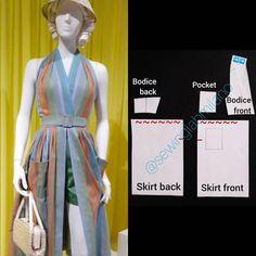 Dress Patterns, Sewing Patterns, Pattern Dress, Halter Neck, Pattern Fashion, Sewing Tutorials, Bodice, Dress Sewing, Womens Fashion