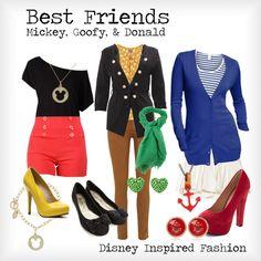"""Best Friends - Mickey, Goofy, & Donald"" by elliekayba ❤ liked on Polyvore"