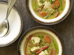 Slow Cooker Thai Green Curry Recipe with Chicken - Above & Beyond