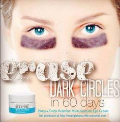 One of my ALL TIME favorite products Rodan+Fields Multi-Function Eye Cream...treats dark circles AND, puffiness and wrinkles.