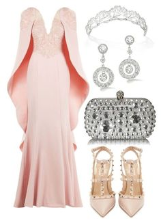 A fashion look from July 2017 featuring long formal dresses, pink pumps and evening clutches. Browse and shop related looks. Lila Outfits, Kpop Outfits, Classy Outfits, Chic Outfits, Pretty Outfits, Pretty Dresses, Beautiful Dresses, Fashion Outfits, Princesa Elizabeth