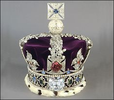 The Cullinan II or the Second Star of Africa, at 317.4 carats, is the fourth largest polished diamond in the world. Set in the Royal Crown of the British Crown Jewels.