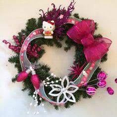 Hello kitty wreath MCBcreations