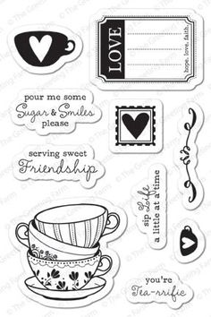 Tea-rrific - Clear Stamp Set - Clear Stamps