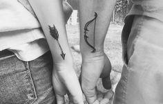 Bow And Arrow | #BodyArt #Tattoos #TattooIdeas #CoupleTattoos