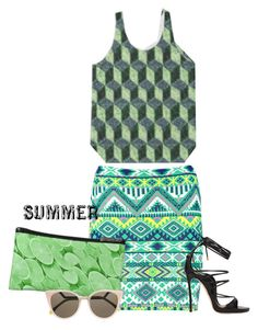 """""""Summer"""" by lataarv ❤ liked on Polyvore featuring Boohoo, Fendi and Dsquared2"""