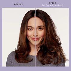 Living Proof Full Dry Volume Blast | Ulta Beauty Tousled Hair, Wavy Hair, Medium Hair Styles, Curly Hair Styles, Hair Volume Spray, Hair Mist, Living Proof, Damaged Hair, Down Hairstyles