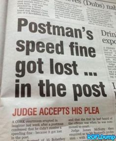 Postman win! #funny #post #fine #lol #win
