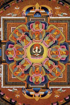 Avalokiteshwore Mandala  by Karsang Lama