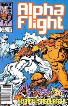 Alpha Flight #23 (1983 series) - cover by John Byrne