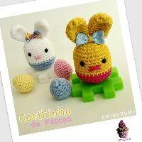 Easter eggies Free pattern Use egg carton bottom as packaging? Or crochet basket