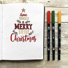 Bullet Journal Inspo, Bullet Journal December, Bullet Journal Christmas, Bullet Journal Cover Ideas, Bullet Journal Headers, Bullet Journal 2020, Bullet Journal Aesthetic, Bullet Journal Notebook, Bullet Journal Themes