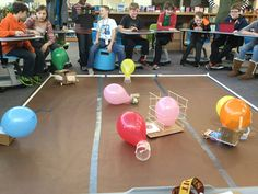 """This project has been so much fun! Battle bots @Sphero <a class=""pintag searchlink"" data-query=""%23HSMStigers"" data-type=""hashtag"" href=""/search/?q=%23HSMStigers&rs=hashtag"" rel=""nofollow"" title=""#HSMStigers search Pinterest"">#HSMStigers</a>"""