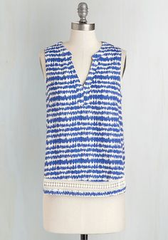 Shall I Count the Waves? Top | ModCloth.com --size Small, reg 34.99, sale $23.99 [5/22/15]