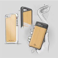 Katapult Design (@katapult.design): Work in progress concept sketches for the @ibark Harvest Case for iPhone 6&;7. . . #katapultdesign