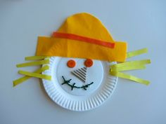 "Fall harvest craft for toddlers | 11 Responses to ""Paper Plate Scarecrow Craft"""