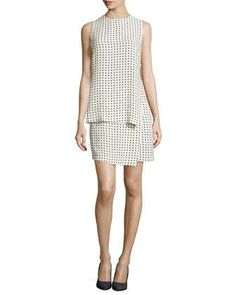 Carey Dotted Silk Layered Dress by A.L.C. at Neiman Marcus.
