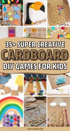 Creative Activities, Craft Activities For Kids, Preschool Crafts, Fun Crafts, Craft Ideas, Play Ideas, Summer Activities, Fun Ideas, Cardboard Gingerbread House