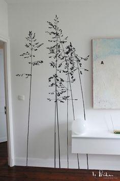 Les Murmures © Mel et Kio studio le Prédeau - Les Délicates Mural Art, Wall Murals, Wall Art, Wall Painting Decor, Diy Wand, Room Decor, Wall Decor, Paint Designs, New Wall
