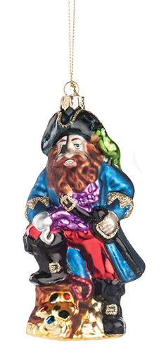 CFF Black Bearded Pirate Blown Glass Christmas Holiday Ornament Nautical Christmas, Christmas Holidays, Christmas Story Books, Holiday Ornaments, Holiday Decor, Pirates, Blown Glass, Black, Christmas Vacation