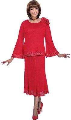 Dorinda Clark ColeThe Rose CollectionRed Sizes 10-24