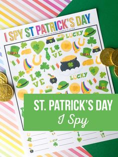 Count your lucky charms with our adorable St. Patrick's Day I Spy Printable Game. This game is fun for everyone in the family. #stpatricksday #Stpatricksprintables #printablesforkids Diy And Crafts Sewing, Diy Crafts For Kids, Halloween Christmas, Halloween Kids, I Spy, Try To Remember, Cool Diy Projects, Craft Party, Party Printables