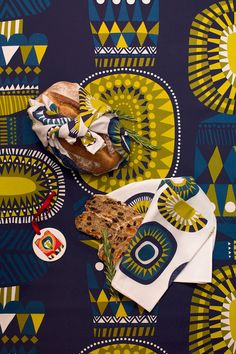 This winter's tableware from Marimekko Finland Textile Patterns, Textile Design, Fabric Design, Print Patterns, Print Design, Favorite Paint Colors, Print Calendar, Holiday 2014, Yellow Art