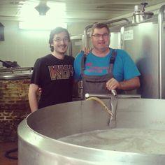 En la cervecería Bresañ con Christophe