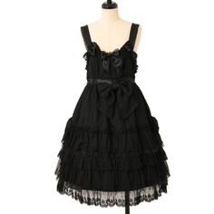http://www.wunderwelt.jp/products/detail6985.html ☆ ·.. · ° ☆ ·.. · ° ☆ ·.. · ° ☆ ·.. · ° ☆ ·.. · ° ☆ Black ruffle lace jumper skirt BABY THE STARS SHINE BRIGHT ☆ ·.. · ° ☆ How to order ↓ ☆ ·.. · ° ☆ http://www.wunderwelt.jp/user_data/shoppingguide-eng ☆ ·.. · ☆ Japanese Vintage Lolita clothing shop Wunderwelt ☆ ·.. · ☆ #BTSSB