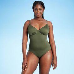 Sleek Look, Swimsuits, Swimwear, Tie Backs, Plunging Neckline, Warm Weather, Fitness Fashion, Stretch Fabric, One Piece Swimsuit