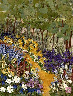 Pressed Flower Art - Landscape pictures - Pressed Flora, a sprig garden