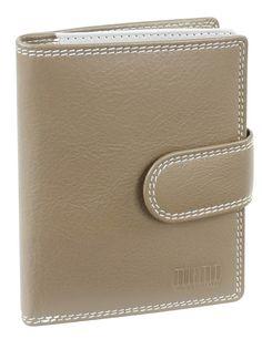 Damenbörse mit Klappe und Riegel (taupe) - M17702TP