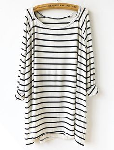 Slouchy Striped T-shirt Dress