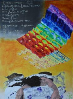 Dreams about light behaves both as particle ans a wave (daydreams, scene 3) (tryptych), bachmors artist