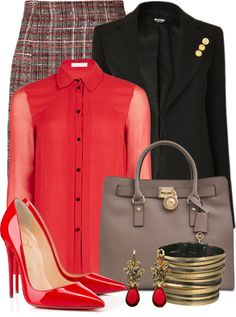 25 Outfits With Michael Kors Hamilton 18K Large Tote