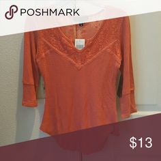 Coral Top NWT New with tags. Lace detail on top.  ??Holds/Trades/Modeling Almost Famous Tops Blouses
