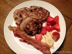 Blueberry banana paleo pancakes