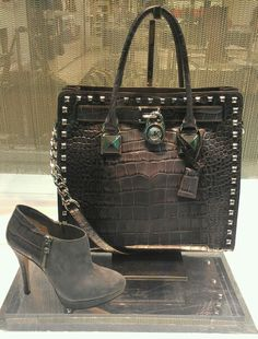 MK purse and booties!!! In love right now... One day... , #CheapMichaelKorsHandbags#com michael kors handbags on sale,