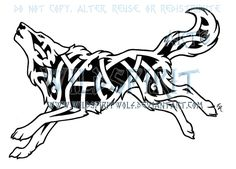 DeviantArt: More Like Dual Knotwork Wolves Tattoo by WildSpiritWolf