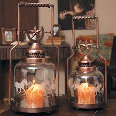 Western Lighting ~ Horseshoe and Star Western Lanterns.
