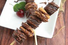 Peanut Butter Brownie Dessert Kabobs   25+ Desserts on a Stick