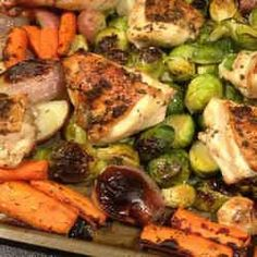 4. Roasted Chicken and Veggies - TOP 16 DASH Diet Recipes
