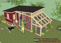 home garden plans: M105 - Chicken Coop Plans Construction - Chicken Coop Design - How To Build A Chicken Coop