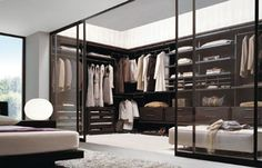 Minimalist Walk in wardrobe and walk in closet furniture for modern interior decoration ideas