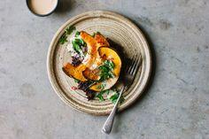 Sarah B's roasted pumpkin with black rice and tangerine tahini sauce recipe – My Darling Lemon Thyme