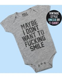 - YELLVintageTees Inappropriate Onesies Funny Baby Onesie Baby Bodysuit Funny Baby Onesies Cute Baby Clothes Baby Boy Outfit Baby Boy Gifts Feminist Onesie from Etsy (US) Cute Baby Boy, Baby Boys, Baby Boy Gifts, Fun Baby, Carters Baby, Baby Gap, Funny Baby Clothes, Trendy Baby Clothes, Funny Babies