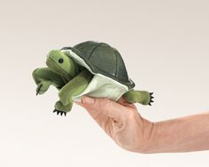 Turtle Finger Puppet by Folkmanis Puppets Mini Turtles, Turtle Plush, Green Bodies, Turtle Love, Green Turtle, Montessori Materials, Hand Puppets, Toddler Fun, Infant Toddler
