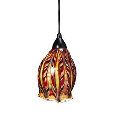 Look what I found at UncommonGoods: Glass Feather Pendant Light for $275.00