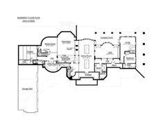 Corrineaux Estate House Plan - Corrineaux House Plan Basement Floor - Archival Designs